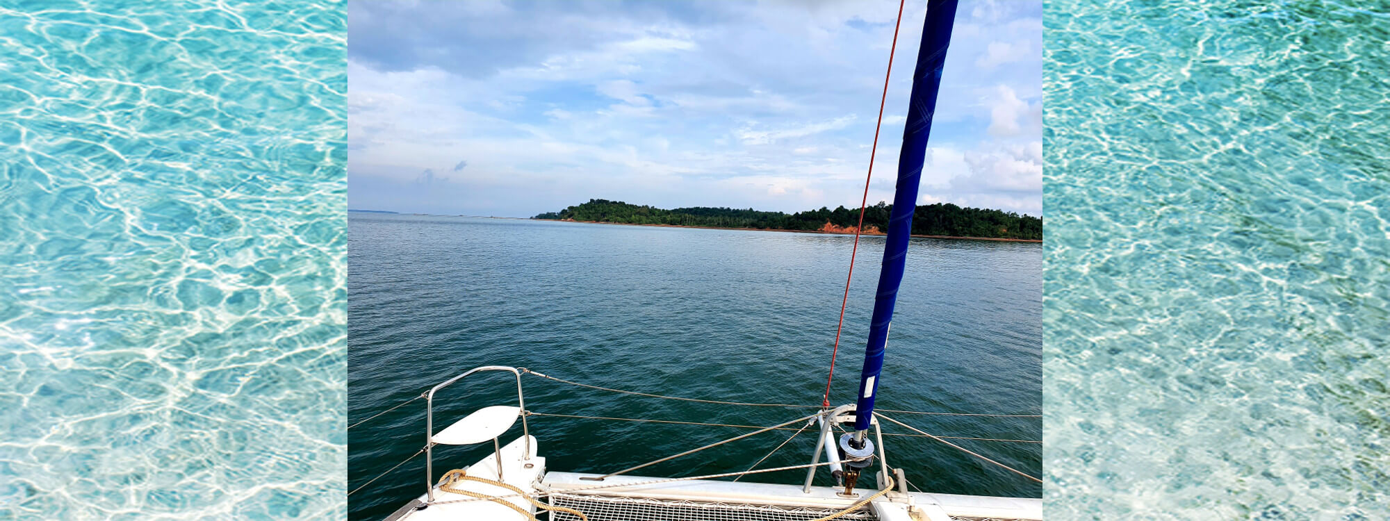 Anchored off a tiny island on the east of Bintan.